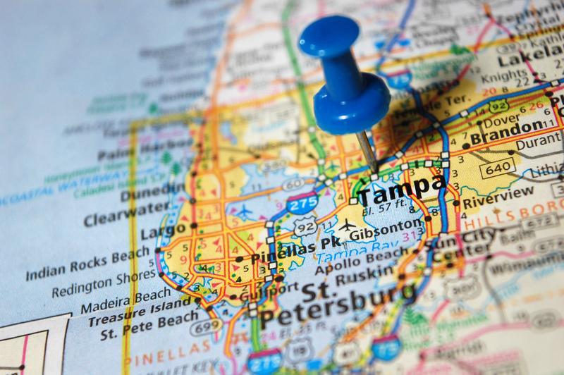 Tampa FL City Map Dumpster Rentals